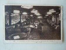 Paquebot Ile de France C G T Bibliothèque des 1ère classe 1931