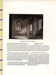 C1815 Antik Klein Georgianisch Aufdruck ~ Altarraum Of Stow Kirche ~