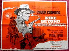 Cinema Poster: RIDE BEYOND VENGEANCE 1966 (Quad) Chuck Connors Michael Rennie