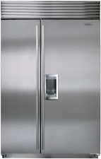 "Sub-Zero Bi-48Sd/S/Th 48"" Side by Side with Dispenser in Stainless Steel"