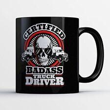 Funny Trucker Coffee Mug - Certified Badass Truck Driver - Best Truck Driver Mug