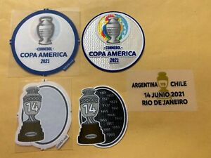 Argentina Authentic Player patches and match date vs Chile Copa America 2021