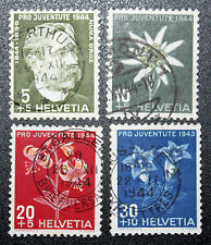 Timbre SUISSE - Stamp SWITZERLAND - Yvert et Tellier n°399 à 402 (c) obl (Cyn16)