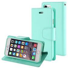 iPhone 6 6s 6 Plus 6s Plus Genuine MERCURY Goospery Mint Green Flip Case Wallet