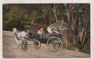 VINTAGE POSTCARD CABBY KNOWS HIS FARE 1900s