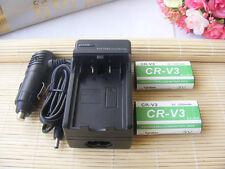 Lot2 CR-V3 CRV3 Battery +Charger for Kodak  for Kodak Easyshare Z740 C340 Z710