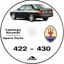 Maserati 422/430.Catalogo ricambi.Spare parts maserati 430/422.