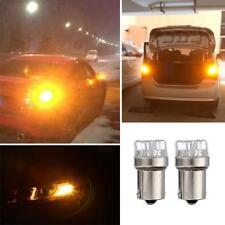 2PCS 1156 Amber Yellow 9 LED Turn Signal Blinker Corner Lights Tail Brake Bulbs