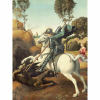 Raphael Saint George And The Dragon Extra Large Art Poster