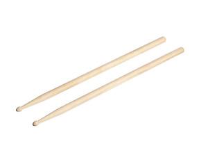 Pair 7A Maple Wood Drumsticks Lightweight Endearing Music Oval Tip Drum Sticks