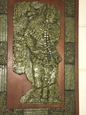 Vintage Original Zarebski Wall Sculpture Mayan Aztec Hanging Relief Plaque