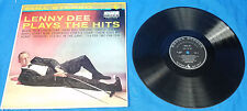 "Lenny Dee Plays The Hits Decca Records DL-8857 LP 12"" Vinyl Album 1959 Jazz Pop"