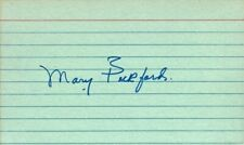 MARY PICKFORD In-person Autograph