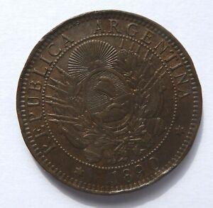 ARGENTINA REPUBLIC -  2 CENTAVOS 1890 – VF-