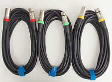7,5m Mikrofonkabel XLR-XLR DMX Kabel OFC-Kupfer  3 Stück je 7,5m lang Kabelklett