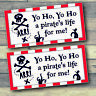 2 x PERSONALISED PIRATE PARTY BANNER   Decor Tableware Range    Pirate Banners