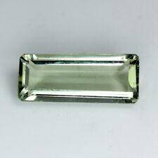Natural Gemstone Natural 10.7 ct Baguette Green Green Amethyst Africa/S1450
