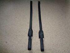 Devoucoux  Dressage Stirrup Leathers black size Small 42-54.5cm nonstretch
