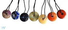 7 chakra gemstone donut collier set crystal healing new age reiki bijoux