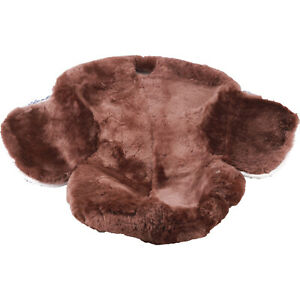 Full Genuine Australian Merino Sheepskin Western Saddle Seat Saver Cover Brown