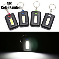 Mini 3 Modes Pocket COB Worklight Hiking Light LED Flashlight Keychain Torch New