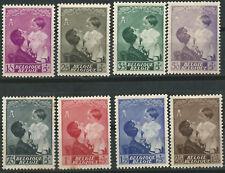 Belgium Belgica Scott # B189/196 * Serie completa Con fijasellos