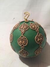 Handmade Antique Vintage Western Germany WAX Christmas Tree GREEN Ornament Rare