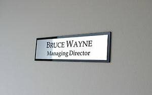 6x30cm Personalised Office Wall Name Plate, Custom Engraved Sign, Plaque door