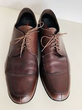 Designer PRADA Men's Brown Leather Lace Up Shoes Size: 8.5