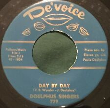 DOLPHUS SINGERS Day By Day/Without A Prayer 45 De'Voice black gospel hear