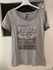 Damen T Shirt Grau Gr. S Frauen Top Mode