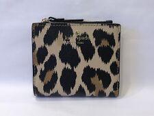 9903c7cd7ba1 NWT KATE SPADE Adalyn Hyde Lane Leopard Leather Slim Small Wallet