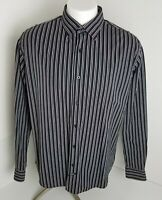 Ecko Unltd Men's Multi-Color Black Stripe Long Sleeve Dress Shirt Size XL