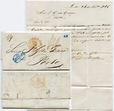 GB to PORTUGAL SHIP LIBRA CAPT.GIBBENS STATIONERY INVOICE 1845 + 420 in BLUE