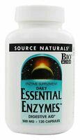 Source Naturals Daily Essential Enzymes Digestive Aid 500 mg 120 Capsules