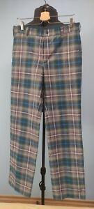 Nike Dri Fit Performance Mens Golf Trousers Pants Tartan Plaid 32x34 W32 34L
