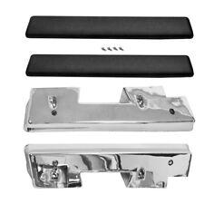 1962~1964 Chevy Impala Door Arm Rest Rubber Pad & Chrome Base 4 PCS Set Dynacorn