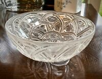 """Lalique Pinsons Bowl Finches in Foliage 9.25"""" Mint Signed & Guaranteed Authentic"""