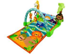 Baby Playmat Safari Animal Play Mat Lay & Play With Fun Sensory Toys