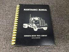 1964-1967 Kenworth K125 Semi Truck Tractor Service Repair Manual 1965 Original