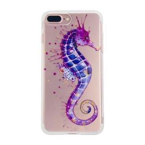 iPhone case 7 8 Plus TPU Cute Design Seahorse