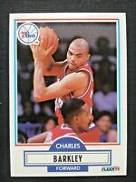 Charles Barkley, Philadelphia 76ers, 1990 Fleer #139, + LOT