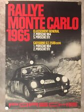 1965 Porsche 911 Monte Carlo Rally Victory Showroom Advertising Poster RARE!!
