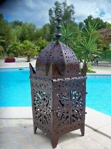 Lanterne Marocaine lampe bougeoir photophore bougie applique lustre 90 cm