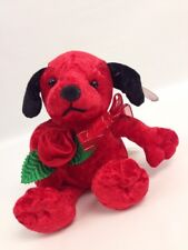 """Dandee Collector's Choice Red Plush Puppy Dog Rose Valentine Gift 9"""""""