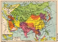Asia Political 1936 Original Antique Colour Map
