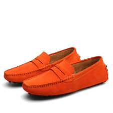 New Men Minimalism Driving Loafers Suede Leather Moccasins Slip On Penny Shoes
