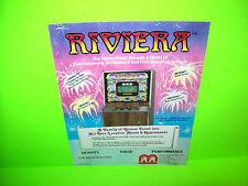 Merit RIVIERA #1 Original 1984 Video Poker Quiz Arcade Game Promo Sales Flyer
