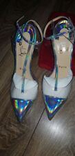 CHRISTIAN LOUBOUTIN  Silver Shoes Heels Pumps Size 37.5
