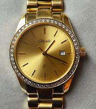 D'Orville Herrenarmbanduhr 14 K./585 Gold 48 Brillanten Armbanduhr Quarz 80,95 g